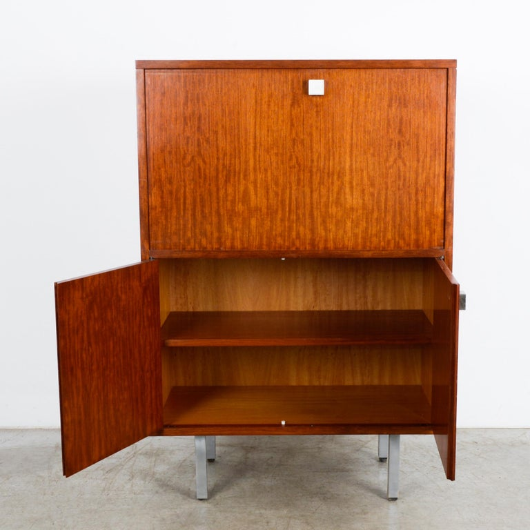 1960s Belgian Teak Secretary Cabinet by Alfred Hendrickx In Good Condition For Sale In High Point, NC