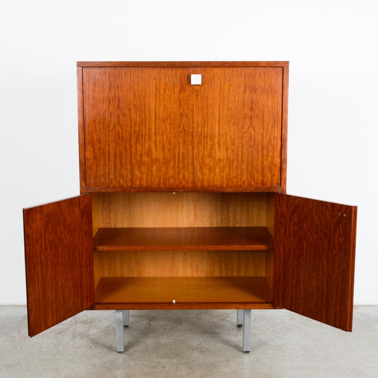 Mid-20th Century 1960s Belgian Teak Secretary Cabinet by Alfred Hendrickx For Sale