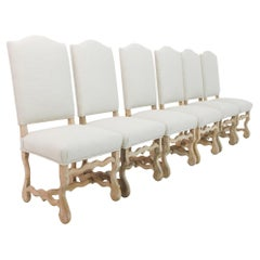 1960s Belgian Upholstered Dining Chairs, Set of Six