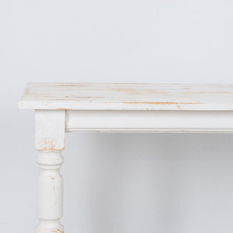 French 1960s Belgian White Patinated Drapers Table For Sale