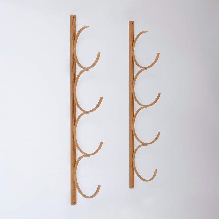 An uncommon birch bentwood drawing rack with four pairs of hooks.