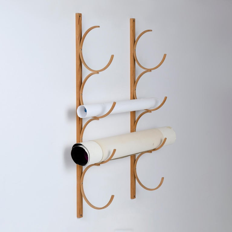 Scandinavian Modern 1960s Bentwood Drawing Rack by Alvar Aalto for Artek For Sale