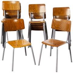 1960s Berl & Cie Midcentury Stacking Chairs, Pagholz, Set of Twenty Four