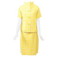 1960s Bill Blass Yellow Three-Piece Suit with Paisley Shell