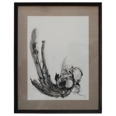 1960s Black and White Abstract Artwork