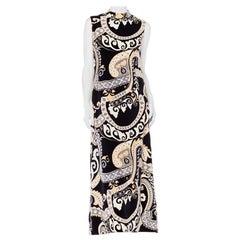 1960s black and white psychadelic velvet dress Dress