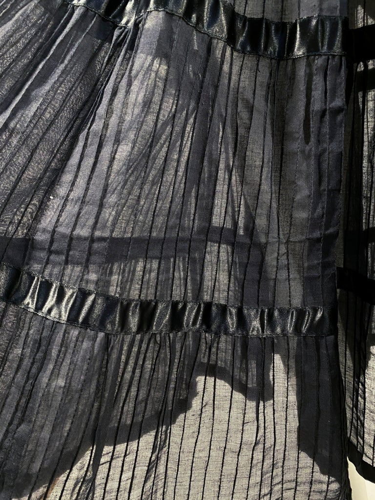 1960s Black Cotton Peasant/Bohemian Dress In Excellent Condition For Sale In San Francisco, CA