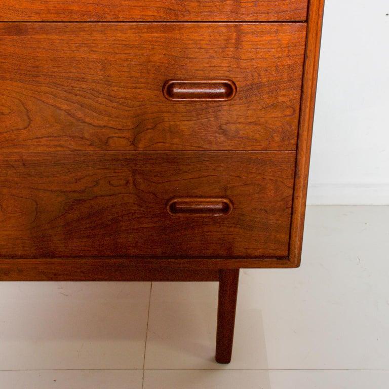 1960s Black Walnut Highboy Chest of Drawers Nakashima Simple Style, USA For Sale 1