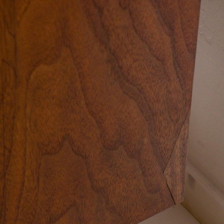 1960s Black Walnut Highboy Chest of Drawers Nakashima Simple Style, USA For Sale 3