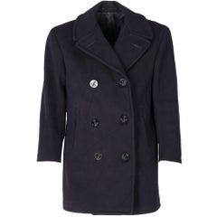 1960s Blue Military Coat