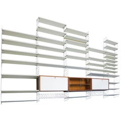 1960s Bokhyllan 'the Ladder Shelf' Shelving System by Nisse Strinning for String