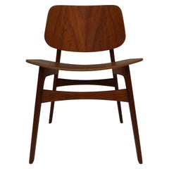 1960s Borge Mogensen Model 122 Teak Dining / Desk Chair for Soborg Mobelfabrik