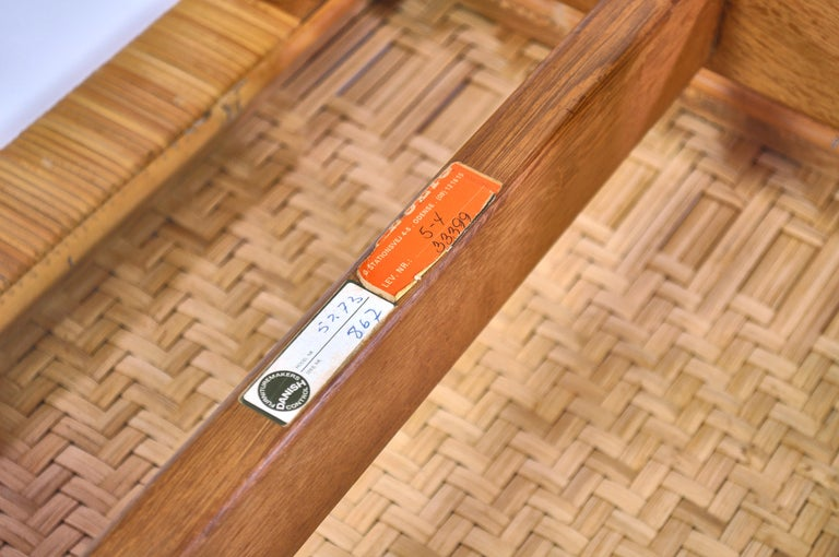 Borge Mogensen Oak and Cane/Rattan Benches or Side Tables,1960s  For Sale 4