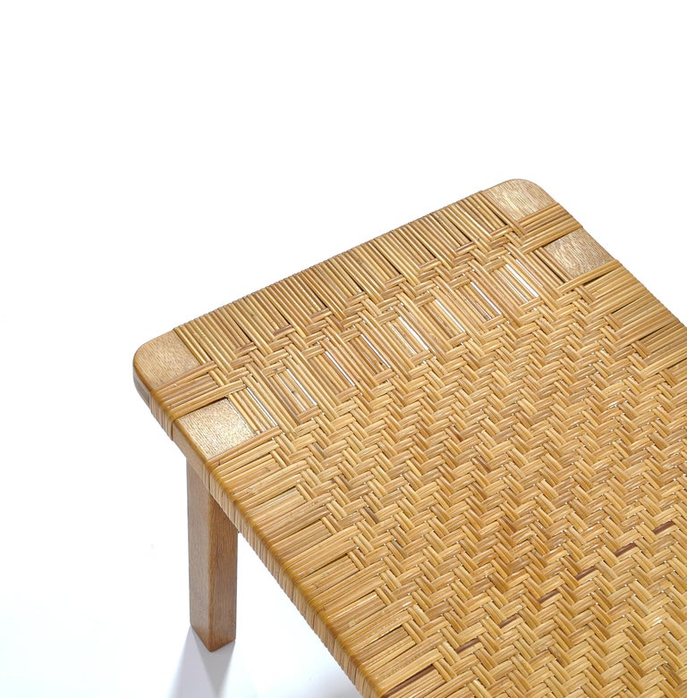 Borge Mogensen Oak and Cane/Rattan Benches or Side Tables,1960s  In Good Condition For Sale In Odense, DK