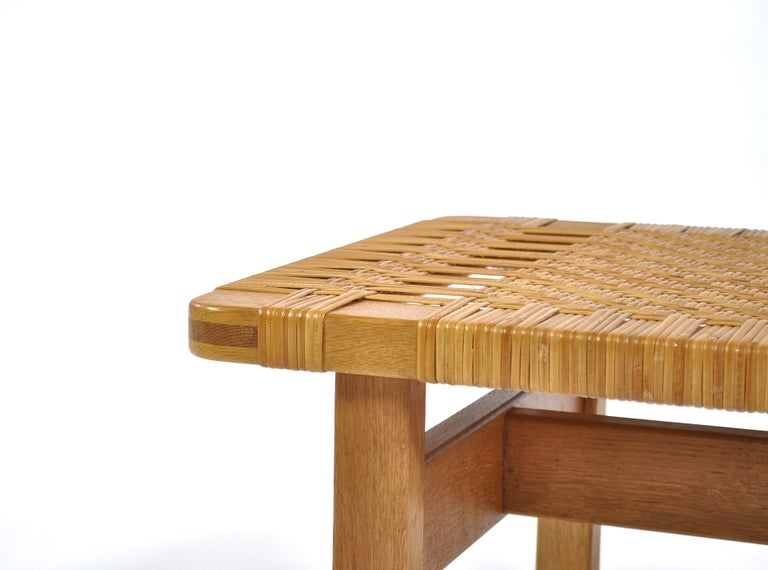 Borge Mogensen Oak and Cane/Rattan Benches or Side Tables,1960s  For Sale 2