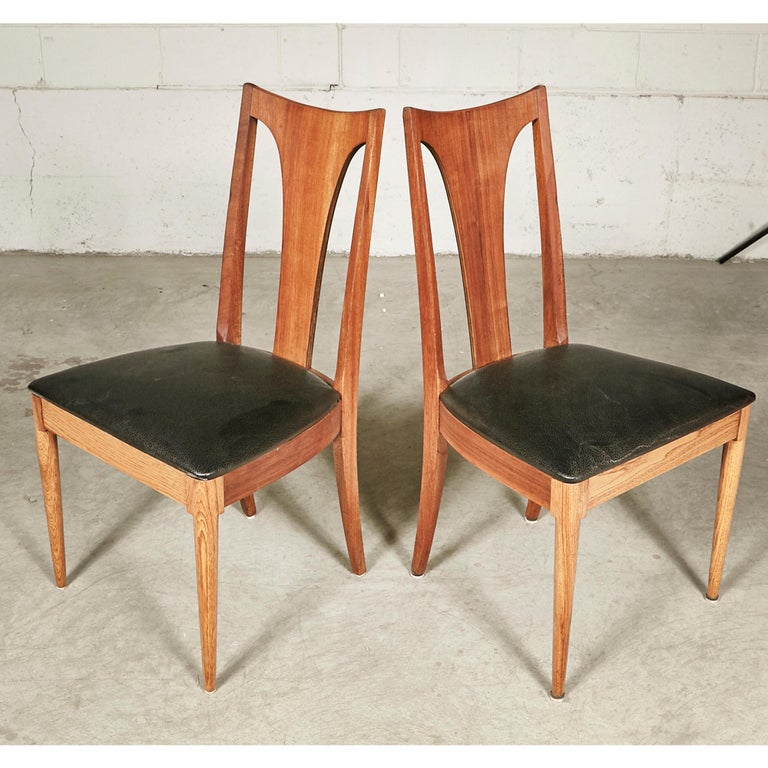 American 1960s Brasilia-Style Dining Chairs, Set of 4 For Sale