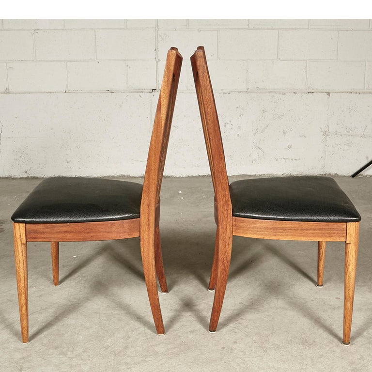 1960s Brasilia-Style Dining Chairs, Set of 4 In Good Condition For Sale In Amherst, NH