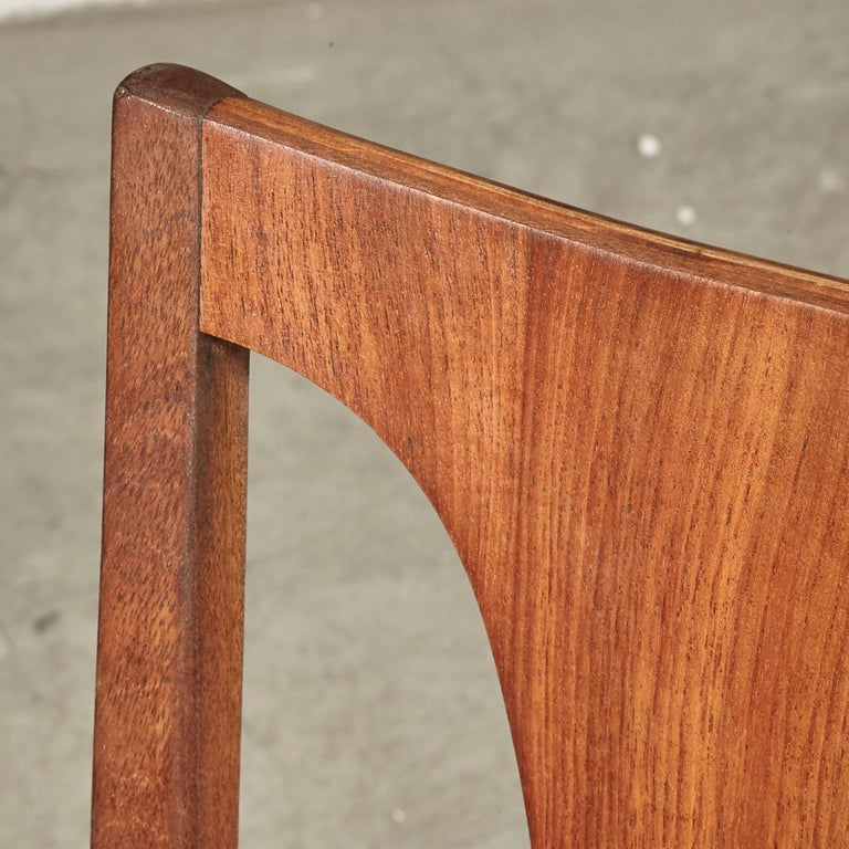 Naugahyde 1960s Brasilia-Style Dining Chairs, Set of 4 For Sale
