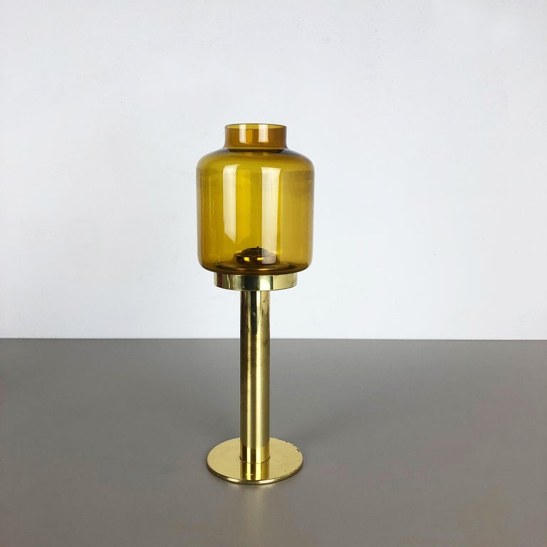 Scandinavian Modern 1960s Brass and Glass