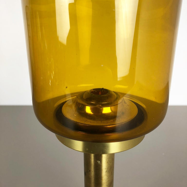 Metal 1960s Brass and Glass