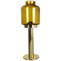 "1960s Brass and Glass ""Claudia"" Candleholder Made by Hans-Agne Jakobson, Sweden"