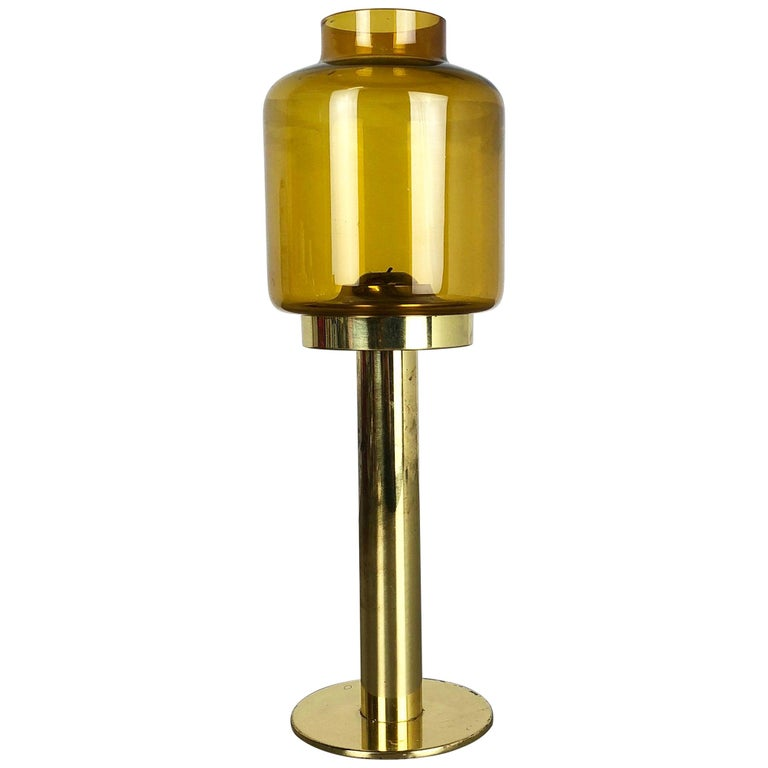 """1960s Brass and Glass """"Claudia"""" Candleholder Made by Hans-Agne Jakobsson, Sweden"""
