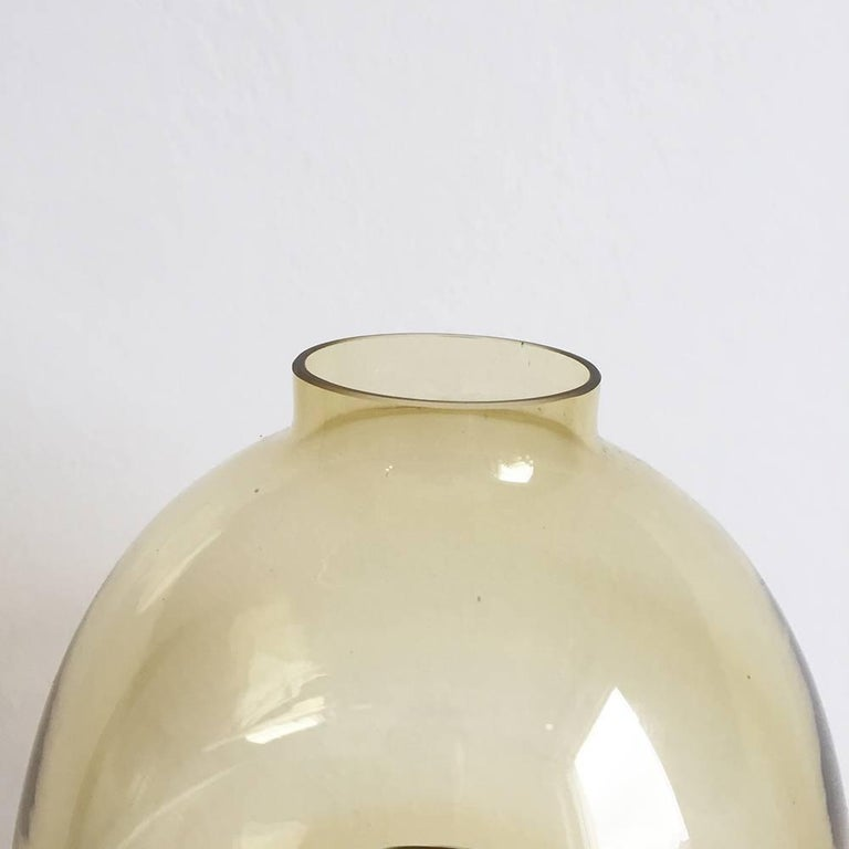 Swedish 1960s Brass and Glass 'Claudia' Candleholder Made by Hans-Agne Jakobsson For Sale