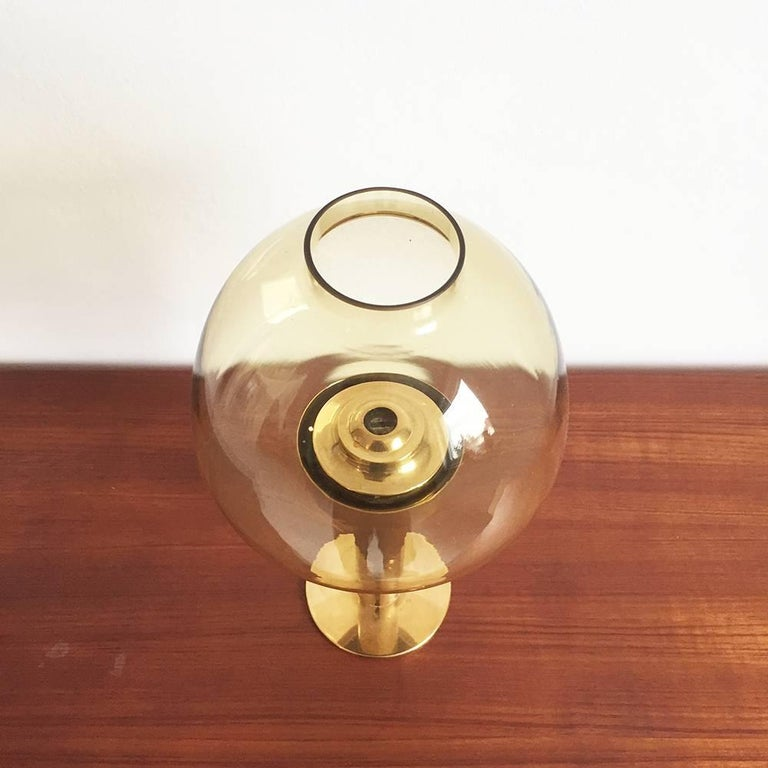 Metal 1960s Brass and Glass 'Claudia' Candleholder Made by Hans-Agne Jakobsson For Sale