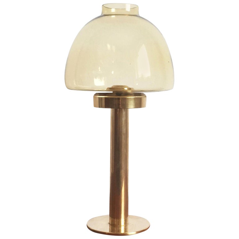 1960s Brass and Glass 'Claudia' Candleholder Made by Hans-Agne Jakobsson For Sale