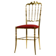 1960s Brass Chiavari Chair Designed by Giuseppe Gaetano Descalzi