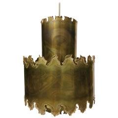1960s Brass Danish Pendant Light Lamp by Svend Aage Sorensen
