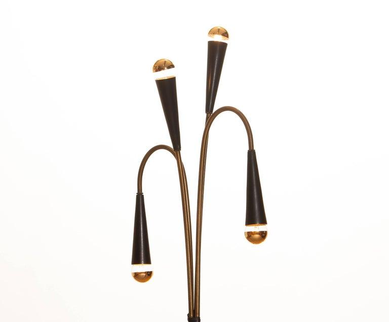 Classical Roman 1960s Brass Floor Lamp by Oscar Torlasco for Lumi For Sale