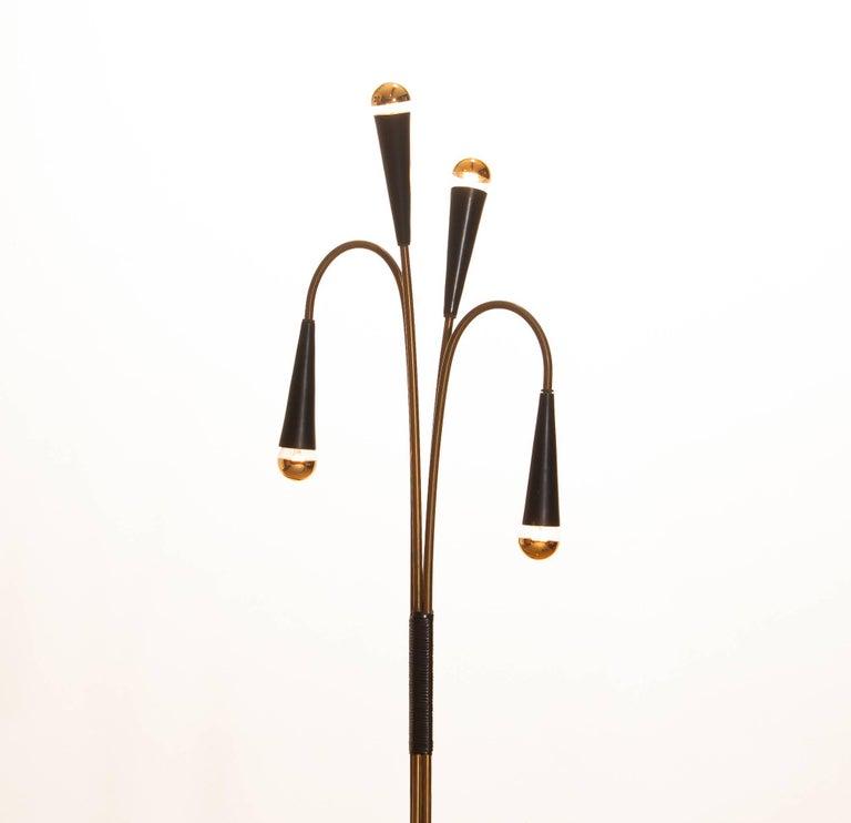 1960s Brass Floor Lamp by Oscar Torlasco for Lumi For Sale 1