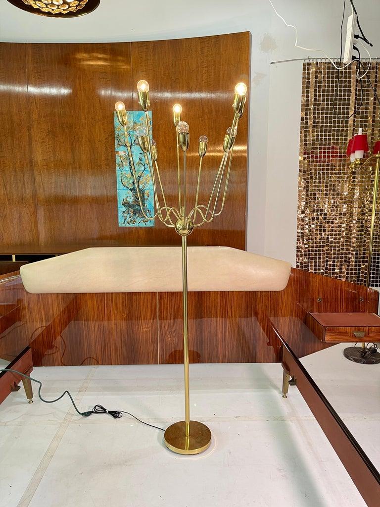 1960's Brass Sputnik Floor Lamp For Sale 10