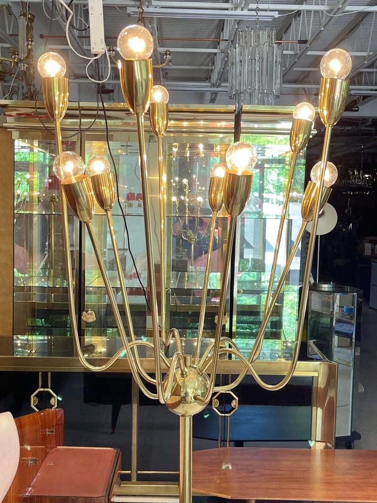 1960's Brass Sputnik Floor Lamp For Sale 14