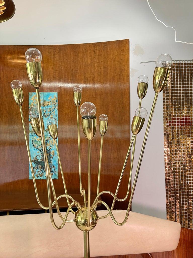 1960's Brass Sputnik Floor Lamp For Sale 2