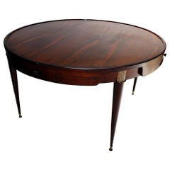 1960s Brazilian Jacaranda Wood Center / Card Table