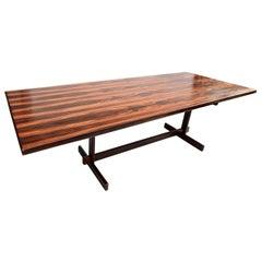 1960s Brazilian Jacaranda Wood Dining Table for Eight