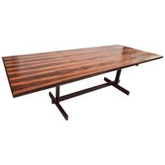 1960s Brazilian Jacaranda Wood Dining Table