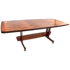 1960s Brazilian Jacaranda Wood Rectangular Dining Table