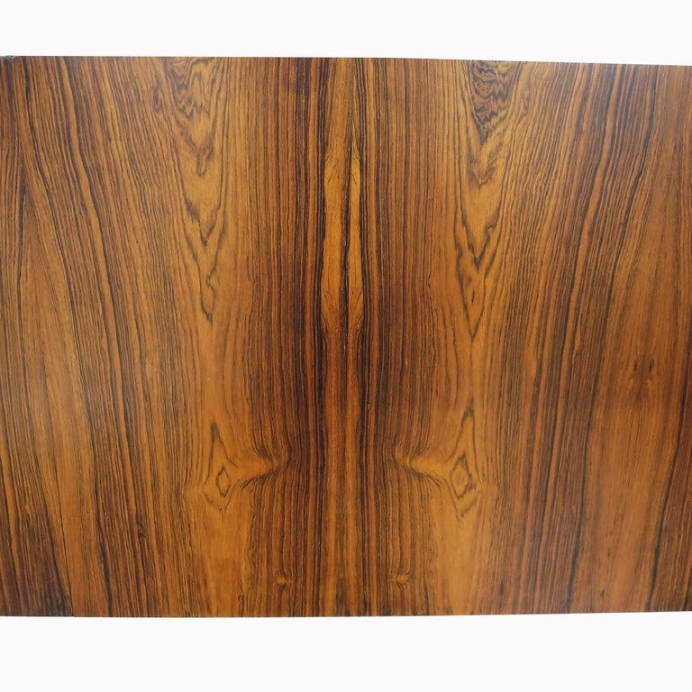 1960s Brazilian King Size Headboard in Rosewood and Leather For Sale 4