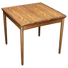 1960s Brazilian Rosewood Compact Danish Dining Table Midcentury Maximalist Apt