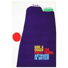 1960s British Travel Coach Poster Pop Art Design 'Cliff'