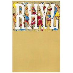 1960s British Wales Rhyl Travel Poster People Design