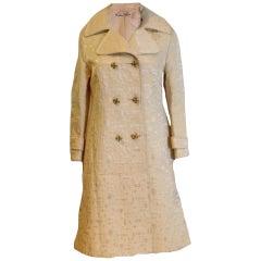 1960s Brocade coat by Braunschweig of Switzerland