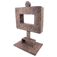 1960s Bronze Abstract Sculpture by California Artist Clay Walker