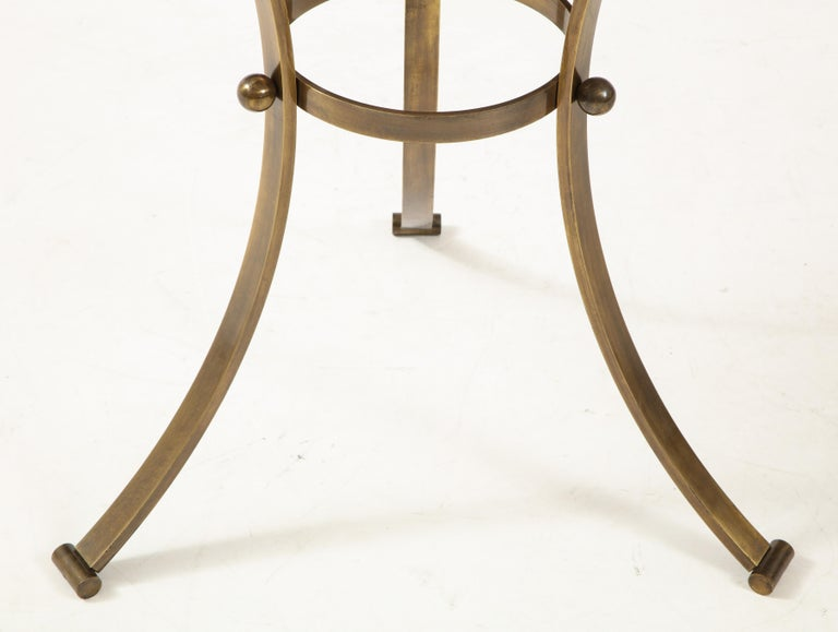 1960s Bronze and Travertine Game Table from Spain For Sale 1