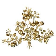 1960s Bronze Sconce 'The Eden Garden Tree' by Maison Honoré