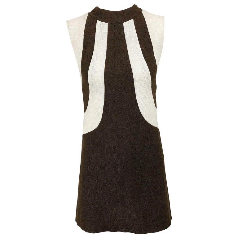 Vintage 1960s Mod Mini Shift Dress