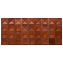 1960s Brown Mahogany Panel Wall by Antoine Philippon / Jacqueline Lecoq